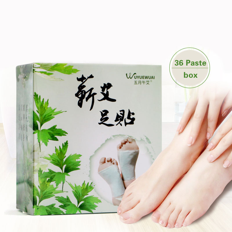 Dampness Moxa Foot Affixed To Ai Moxibustion Foot Paste Foot Stickers Improve Sleep Health Foot Paste Driving Cold wormwood pepper ginger paste to banish cold pain shoulder neck leg health care stickers warm stickers chinese herbal stickers