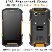 Original Huadoo HG04 MSM8926 Quad Core IP68 Rugged Android 4 4 Waterproof Phone 4 7 OGS