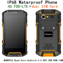 Original Huadoo HG04 MSM8926 Quad Core IP68 rugged Android 4.4 Waterproof Phone 4.7″ OGS 4G FDD LTE GPS 2GB RAM 13MP Camera HG06