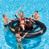 Riding Pool Float Lounge Intex Inflatable Cowboy Rodeo Bull Lake Swimming Funny 56280