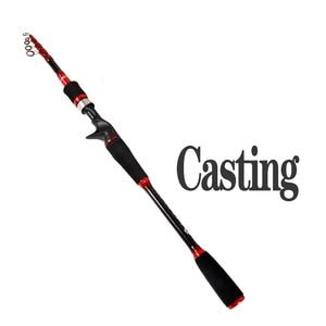 Image 5 - spinning casting lure rod telescopic fishing rod 1.8m 2.7m boat rock pole for bass catfish carp sream rod