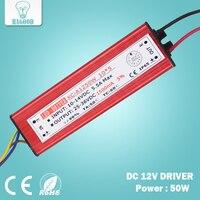 50 W Entrée DC12V Courant D'alimentation 1425-1500mA Sortie DC25-36V Étanche LED Lumière Pilote Transformateur Adaptateur pour Led Lampes