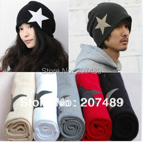 Wholesale retail men's ladies' fashion star knitted hat Beanies Cap Autumn Spring Winter lover unisex multi color option whcn
