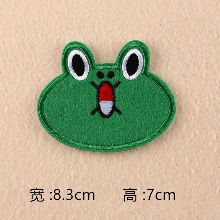 Uroczy kreskówkowy niedźwiadek królik żaba kaczka żelazko na plastry na ubrania dla dzieci haftowane naklejki z włókna naszywka ubraniowa akcesoria