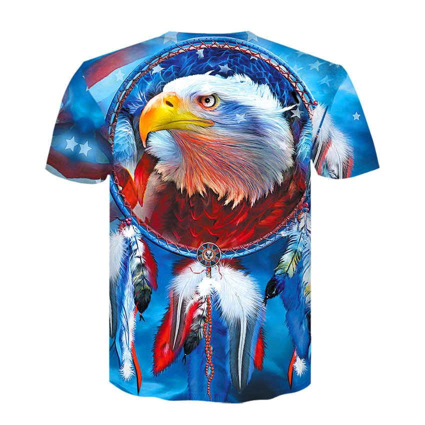Девин ДУ футболка в стиле хип-хоп для мужчин летние топы 3d Футболка с принтом цвета орла модные футболки с цветами рубашки плюс размер M-4XL Прямая поставка