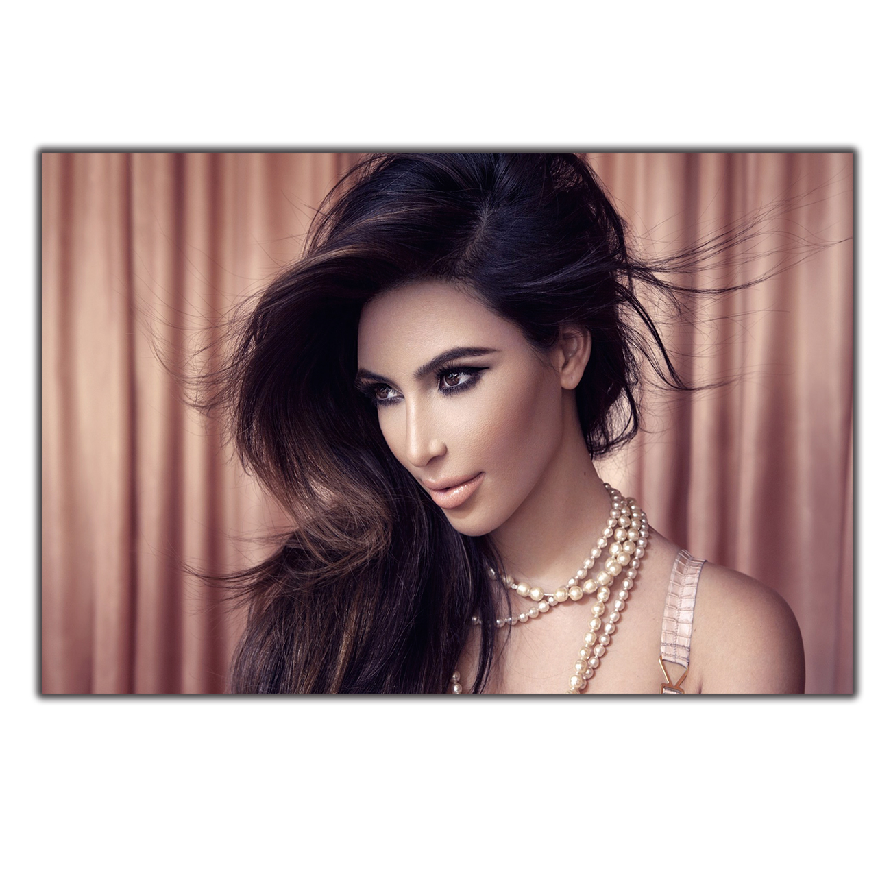 Art Poster Print hot Home Wall decor8x12 12x18 24x36decor canvas <font><b>Kim</b></font> Kardashian Movie Actor Star image