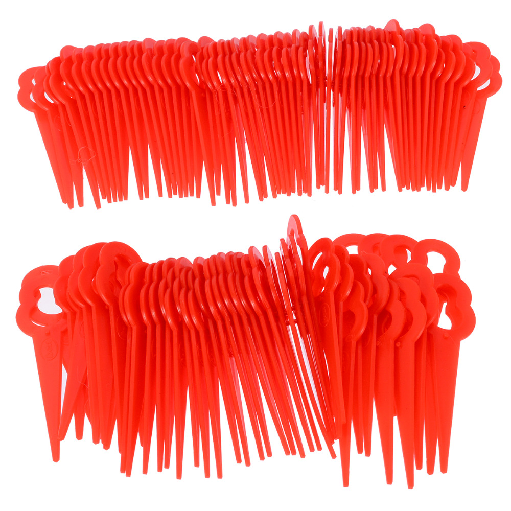 100Pcs Cutter Swing Plastic Blade Pendants For  RT250 18 battery Li ion Lawn Trimmer Spare Blade Red100Pcs Cutter Swing Plastic Blade Pendants For  RT250 18 battery Li ion Lawn Trimmer Spare Blade Red