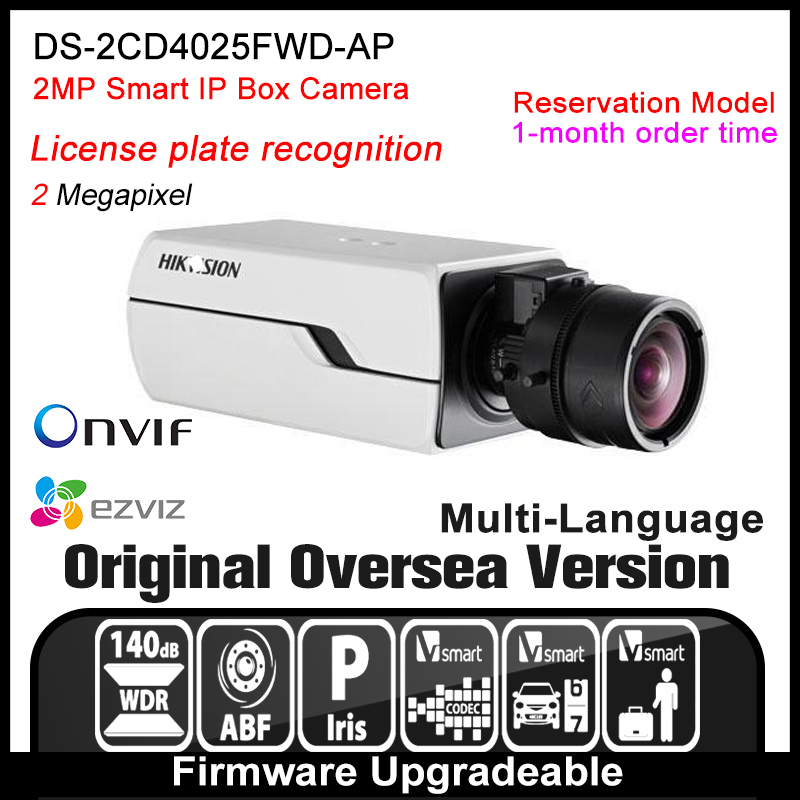 Hikvision   DS-2CD4025FWD-AP Original English Version IP camera 2MP security camera CCTV camera P2P ONVIF POE indoor HD H265 hikvision ds 2ae5123t a original english version 2mp ptz ip camera cctv security camera surveillance poe onvif 4k hd network
