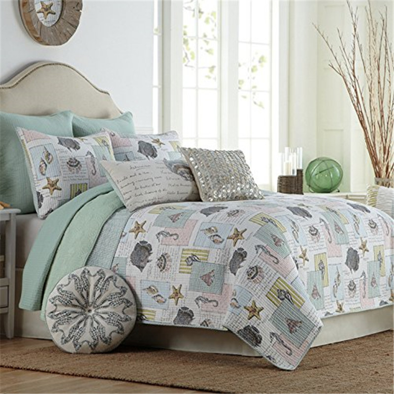 Nautical Bedding King: FADFAY Home Textile 100% Cotton Ocean Bedding Set Bed