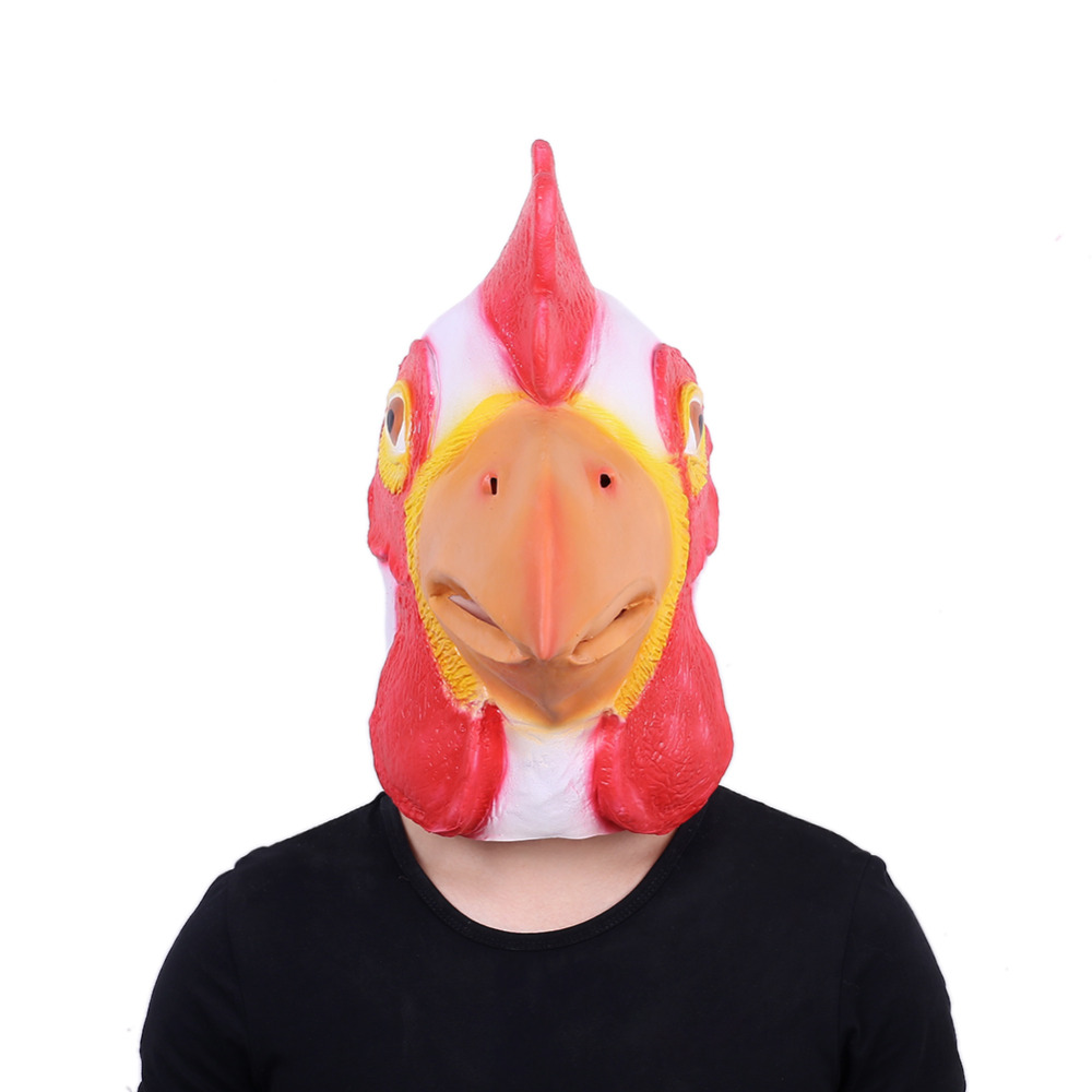 Halloween Costume Mask Cock Head Mask Chicken Headwear Mask Festival Party Cosplay Drop Accessory Full Face High Quality