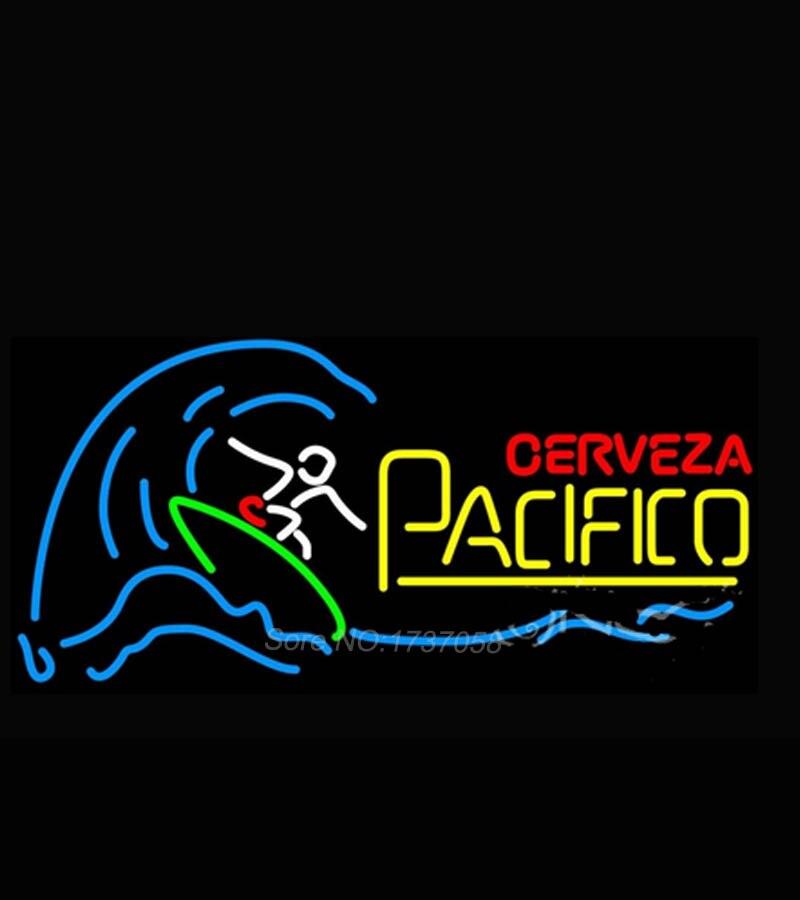 Cerveza Pacifico Surfer Wave Neon Sign Dallas cowboys