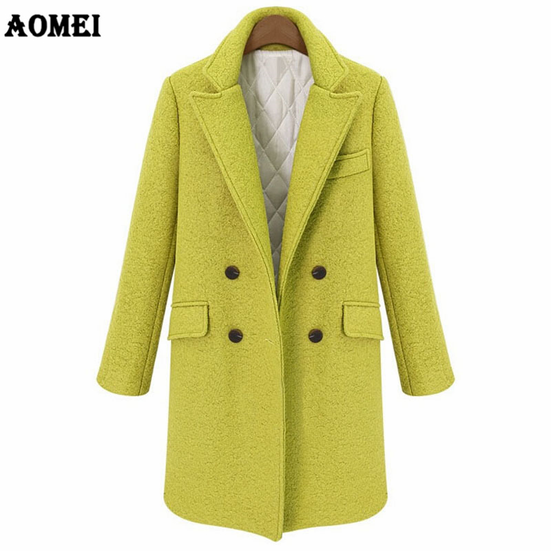 Woman Wool Coat Quilted Thicken High Quality Winter Jacket Women Slim Woolen Long Cashmere Blend Coats Cardigan Overcoat Elegant