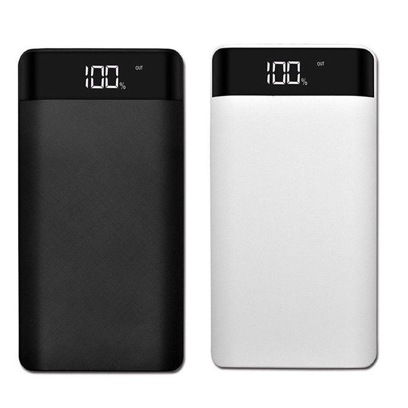 Power Bank Box 5v 1a 2x18650 Battery Power Bank Case Charger With Led Diy Box For Cell Phone White Advertising