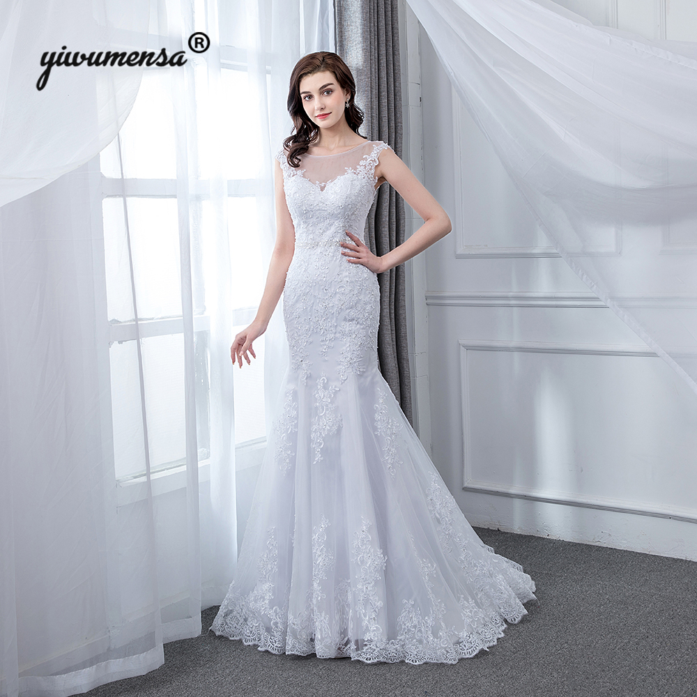 Real Retro Weddings: New Design Real Picture Mermaid Fish Wedding Dress Vintage