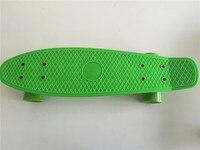新しいすべてのパステルグリーンスケートボードミニロングボード男の子女の子プラスチックレトロクルーザースケートボード22