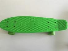 New All Pastel Green Skateboard Board Mini Longboard Boy Girl Plastic Retro Cruiser Skateboard 22″ Style Small Cruiser Deck