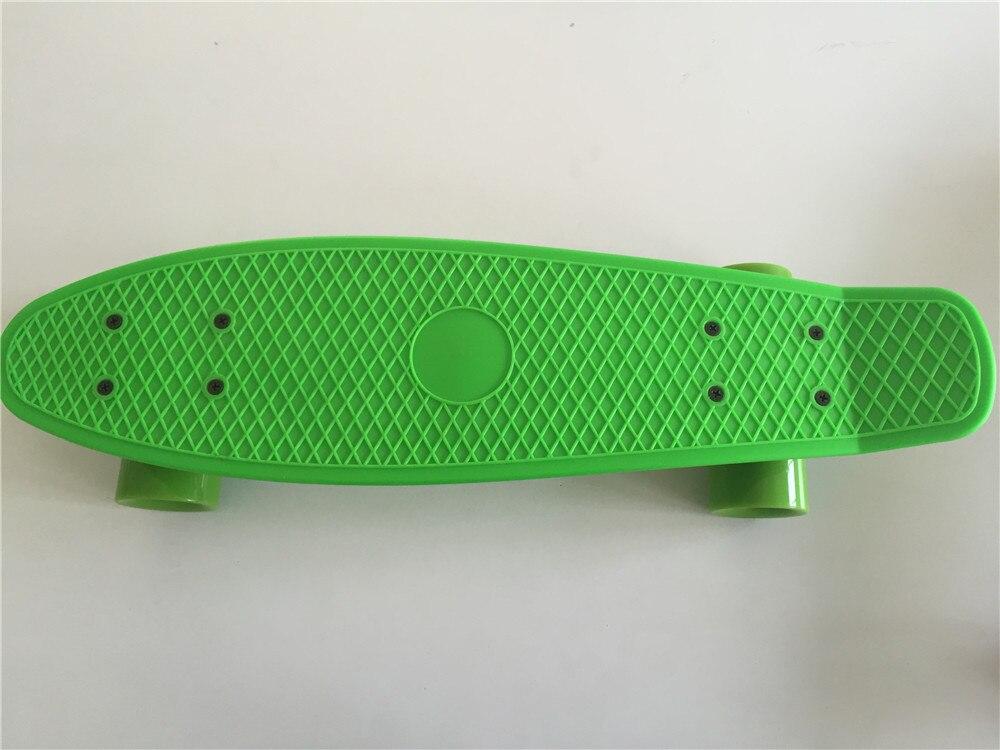 Nouveau tout Pastel vert planche à roulettes Mini Longboard garçon fille en plastique rétro Cruiser planche à roulettes 22
