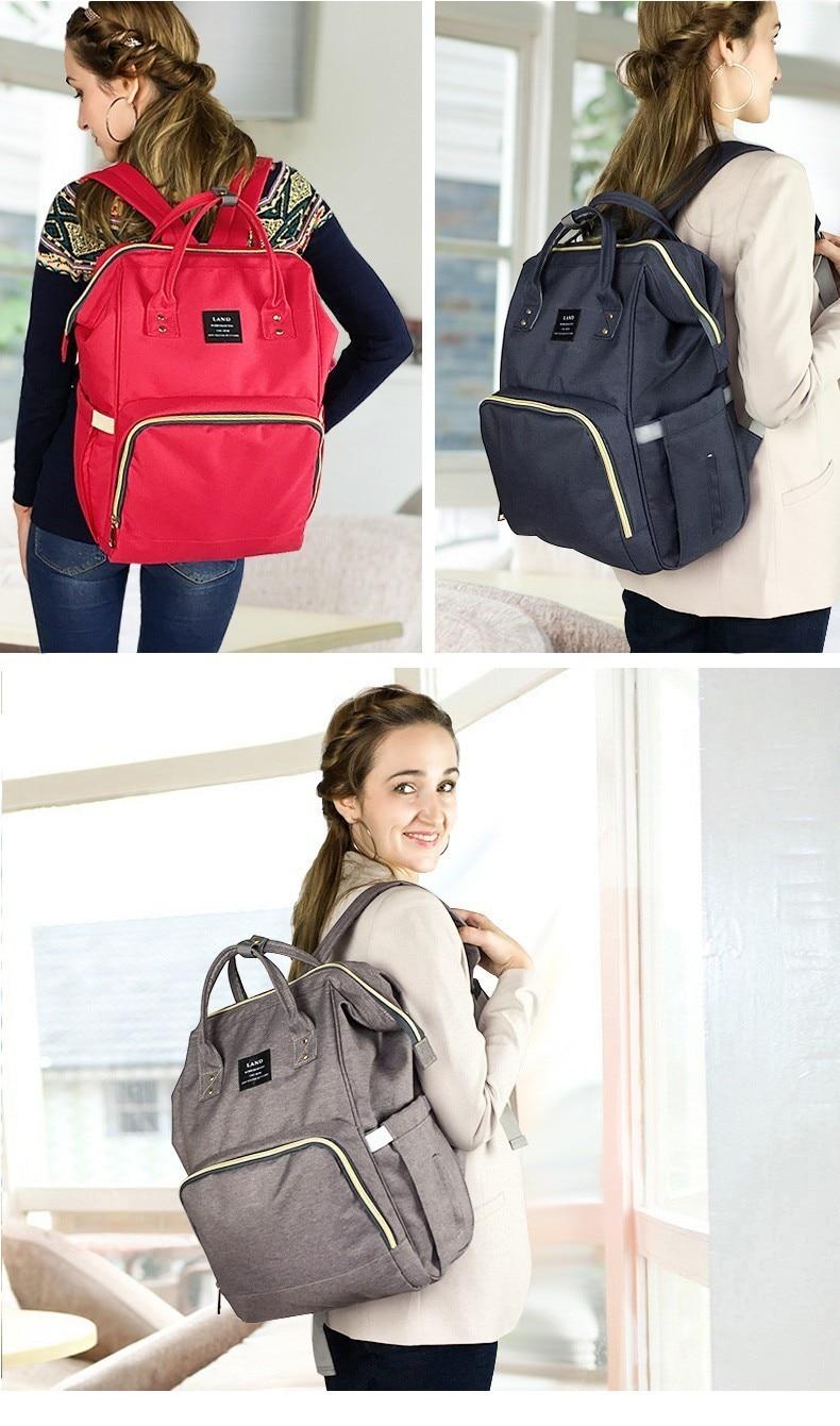 HTB1UbT2XH1YBuNjSszhq6AUsFXaT LAND New Baby Diaper Bag Fashion Mummy Maternity Nappy Bag Large Capacity Baby Bag Travel Backpack Designer Nursing Bag