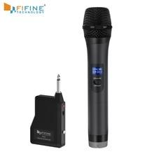 FIFINE UHF bezprzewodowy ręczny mikrofon dynamiczny i odbiornik na impreza plenerowa Bar weselny na żywo konferencja szkolna Karaoke K025