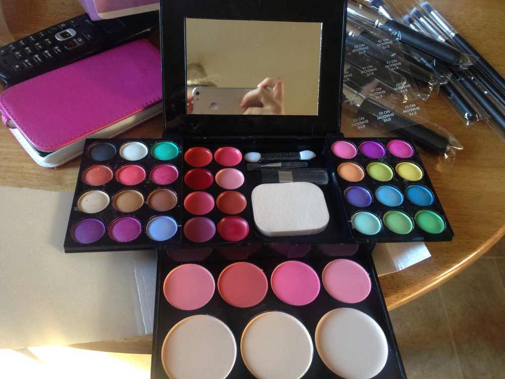 חדש 39 צבעים צלליות איפור ערכת צבעים קרן סומק קוסמטי שפתון כלים