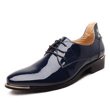 Pointed Patent Leather Oxford Shoes For Men Dress Shoes Business Wedding Men Formal Shoes Plus Size 45 46 47 48(China)