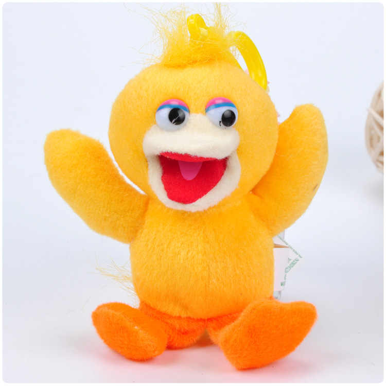 Cartoon Sesame Street Elmo Big Bird Cookie Monster Ernie Bert 13cm Keychain Plush Toys Soft Stuffed Dolls Pendant Kids Gift