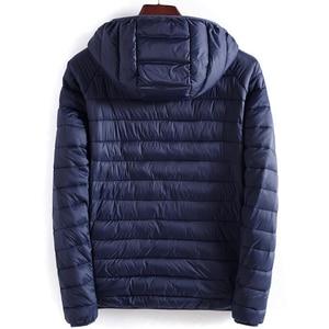 Image 3 - ฤดูหนาวชายเสื้อHooded Casualน้ำหนักเบาอุ่นฝ้ายพื้นฐานแจ็คเก็ตOutwearบุรุษเสื้อWindbreakerเสื้อผ้าใหม่