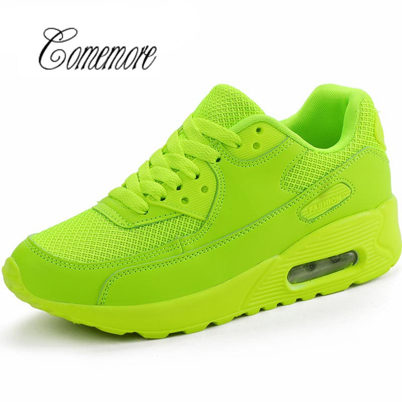 Comemore Summer Women's Running Shoes Lady Sports Shoe Sport Men Sneakers Toning Breathable Air Shoe Green Scarpe Donna