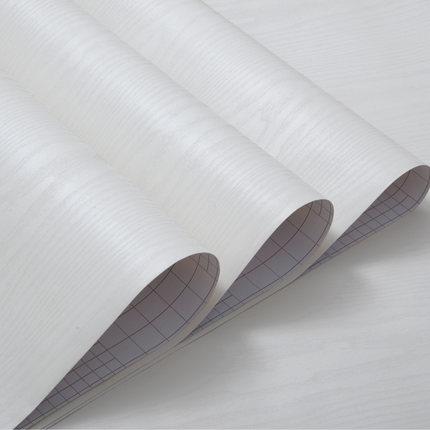 Купить с кэшбэком Self - adhesive wallpaper furniture renovation stickers decorative pieces waterproof kitchen cabinets wardrobe white wood -121