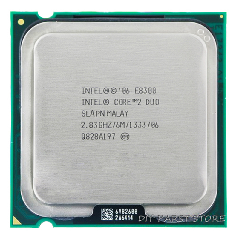 Procesador de CPU INTEL Core 2 Duo E8300 Socket LGA 775 (2.8GHz / 6M / 1333GHz)