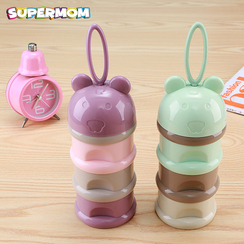 3 Layer Baby Food Container Infant Milk Powder Snack Box Breast Milk Storage Bag Fruit Hanging Strap BPA Free Baby Feeding
