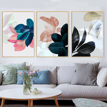 Nordic Style 3pcs Modern Watercolor Leaf Wall Painting Quotes Print on Canvas Wall Picture For Living Room Home Decor Gift watercolor leaf flamingo tassel hanging painting wall decor print