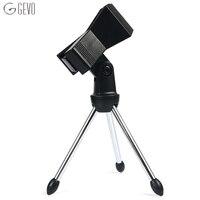 Suporte de microfone ajustável suporte de microfone dobrável microfone grampo suporte de metal tripé para bm 800 microfone condensador