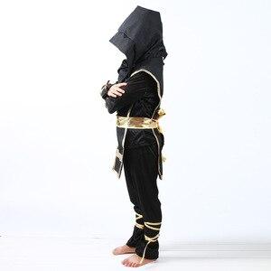 Image 3 - 검은 소년 Ninjago 제복 아이 옷 세트 아이들을위한 할로윈 의상 크리스마스 멋진 파티 드레스 닌자 의상 정장