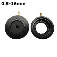 Cheaper 0.5-16 mm Amplifying Diameter Zoom Optical Iris Diaphragm Aperture Condenser 12 Blades for Digital Camera Microscope Adapter