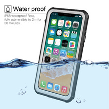 For iPhone X Xs Xs Max Xr Waterproof case life water Shock Dirt Snow Proof Protection