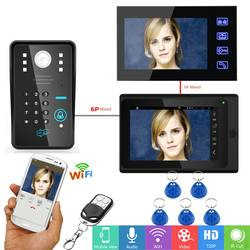 YobangSecurity видеодомофон 2*7 дюймов ЖК-дисплей Wi-Fi Беспроводной Видео Домофонные дверной звонок Камера монитор Системы Android IOS APP управление