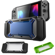 For Nintend Switch NS NX Console Shockproof TPU Heavy Slim Rubberized Hard Back Case Shell Protector For Nintendo Switch Guard protective case crystal cover shell shockproof back clear ultra thin transparent for nintendo switch ns game console controller