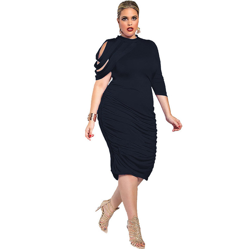 Women's Clothing Plus Size Dresses For Women 4xl 5xl Womens Ladies Bodycon Floral Summer Short Sleeve Evening Party Stretch Dress