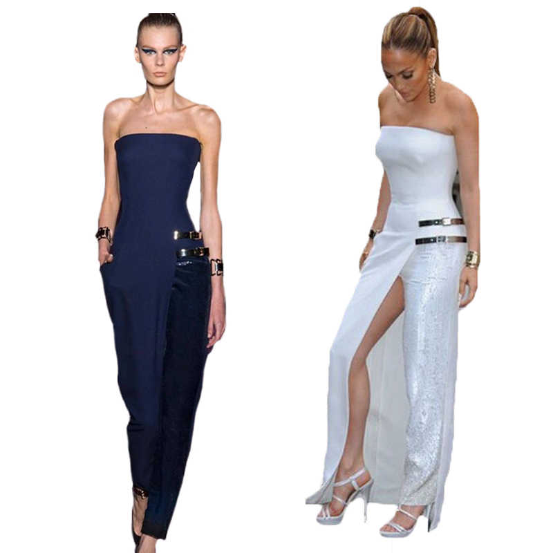 9dd93c5171a new fashion celebrity style women s backless jumpsuits ladies sexy rompers  pants bodysuits elegant white jumpsuit for