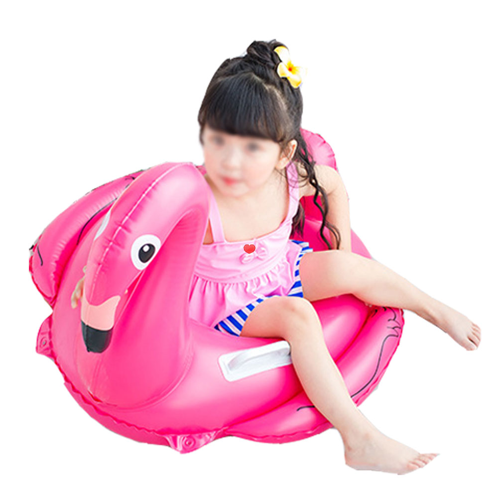 Inflatable flamingo boat swimming pool floating ring floating mattress children swan swimming circle seat raft summer water toys