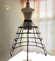 White Black Wedding Hollow Petticoats 5 Hoops for Woman Crinoline Underskirt for Ball Bridal Gown can can para vestido de novia