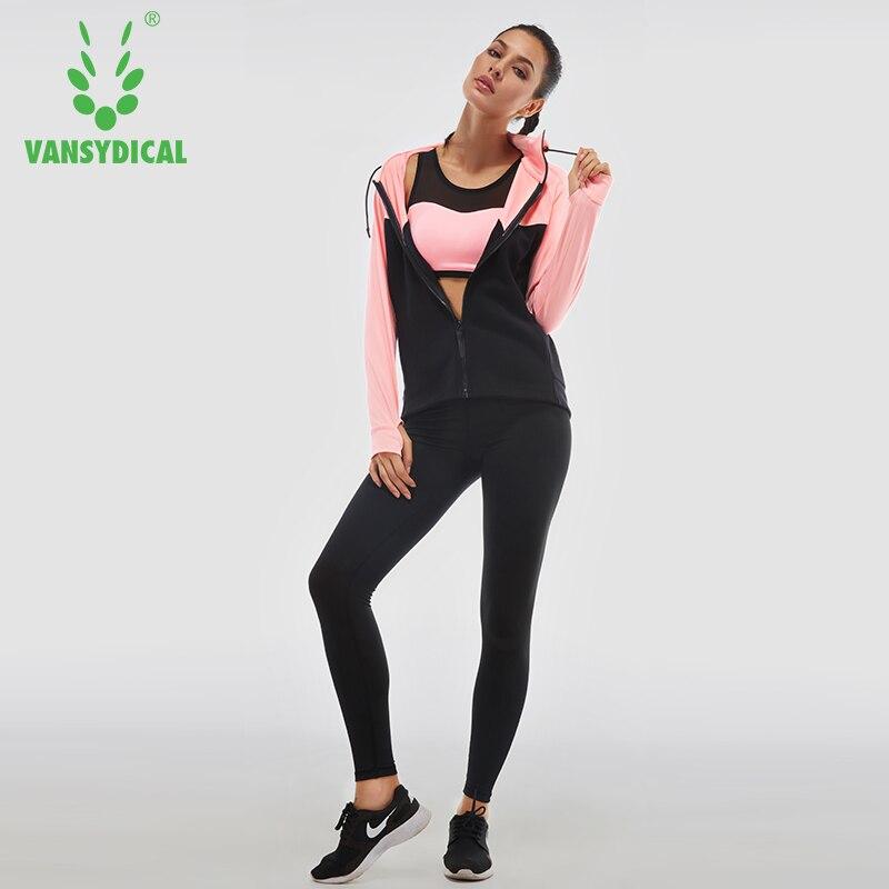 Vansydical femmes course à pied costumes 4 pièces Gym vêtements survêtement femmes Sport costumes femme Yoga Legging Sport soutien-gorge Fitness collants femme