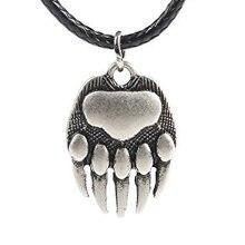 Двухстороннее ожерелье с принтом в виде лапы белого медведя