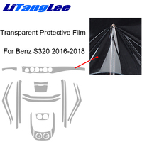 Litanglee For MERCEDES S400L 500L 2016 2018 Refit Sticker Car Styling Full Set Transparent Protective Film