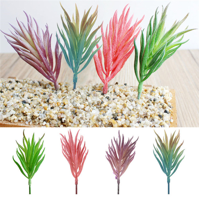 Mini artificial plants grass for garden craft plastic fake floristry mini artificial plants grass for garden craft plastic fake floristry plants artificial flowers succulent leaves cheap workwithnaturefo
