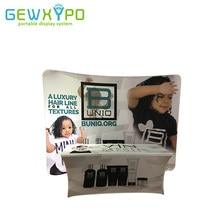 Toile de fond incurvée de bannière de tissu de Tension d'affichage de publicité de salon commercial de la meilleure qualité 10ft(W)* 7.5ft avec l'impression de couverture de Table de Spandex de 6ft