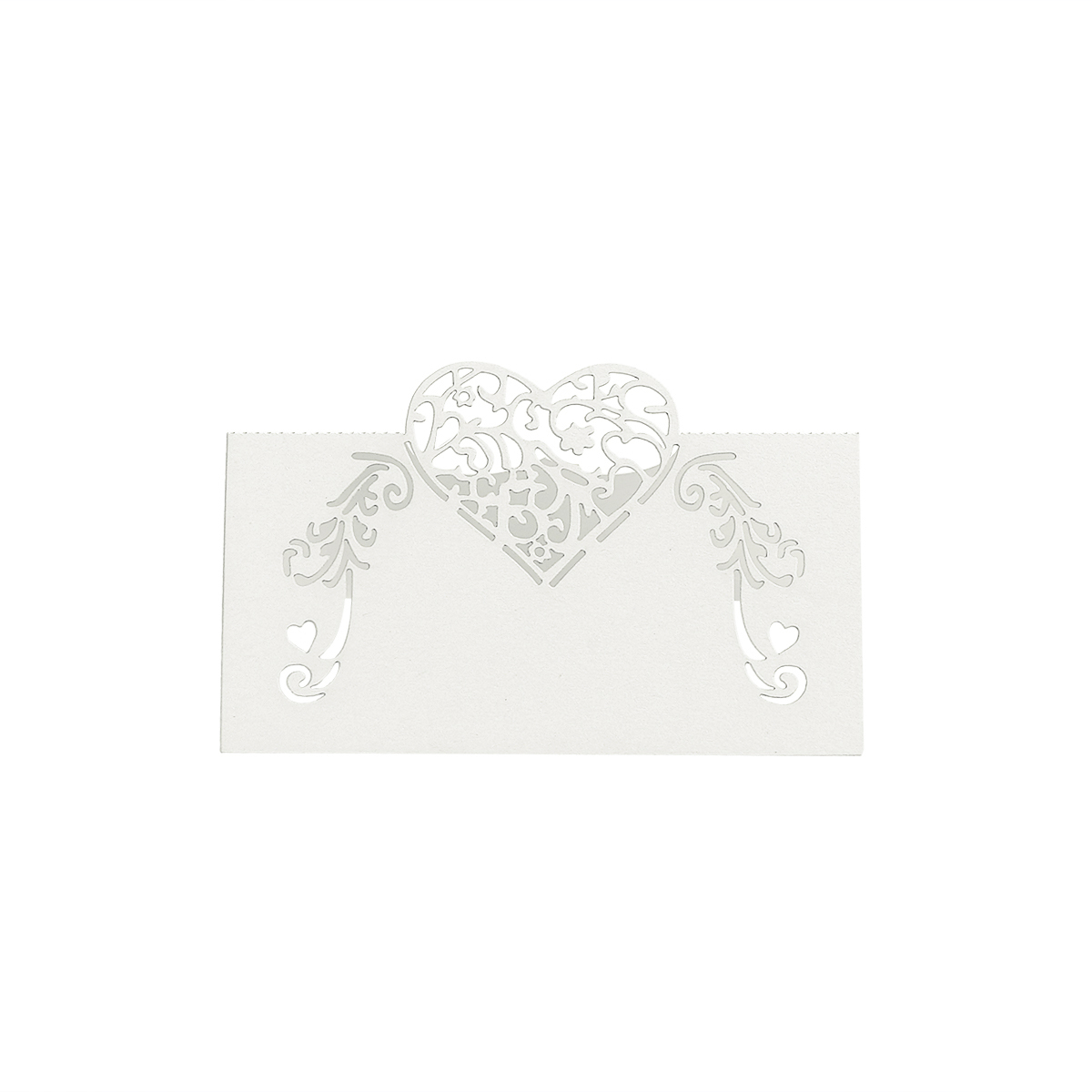 Image 3 - NICEXMAS 50pcs Laser Cut Heart Shape Place Cards Wedding Name Cards For Wedding Party Table Decoration Wedding Decor-in Party DIY Decorations from Home & Garden