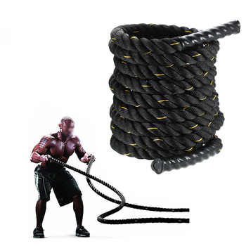 "TOMSHOO 10M/12M/15M Heavy Black 1.5"" Dia.Undulation Battling Rope Physical Body Strength Training Sport Fitness Exercise Workout - DISCOUNT ITEM  34% OFF Sports & Entertainment"