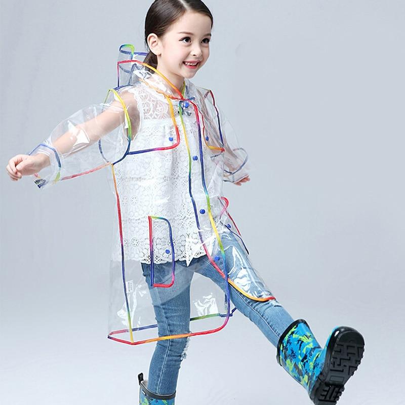 Rainbow Children/'s Raincoats For Boys And Girls Poncho Style With Hood Rainwears